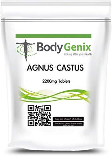 Bodygenix Vitex Agnus Castus Supplement   Reduces Menstrual Cramp, Mood Swings, Irritability   2200mg High Strength Veg 180 Tablets