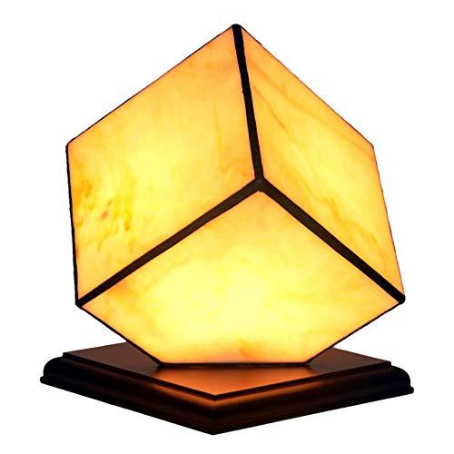 DIMPLEYA Lámpara de Mesa pequeña en Estilo Tiffany Hecho a Mano Lampías nocturnas Infantiles Hechos de vitrales lámparas de Noche de Dados creativos para la Sala de Estar