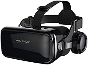"""Adofys VR SHINECON 6.0, 4th Generation 3D Virtual Reality Headset with Stereo Headphonefor 3.5"""" -6.0"""" Smart Phone(Black)"""