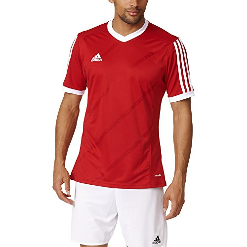 adidas Performance - Camiseta de manga corta para hombre, talla XL, color rojo