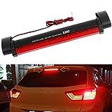 Xotic Tech Universal 14-LED Car Rear Window High Mount 3rd Brake Fog Stop Light Assembly Red Tail Lamp Bar