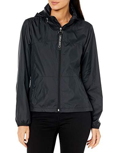 Preisvergleich Produktbild Calvin Klein Damen womens light weight windbreaker Windjacke,  Schwarz,  Medium