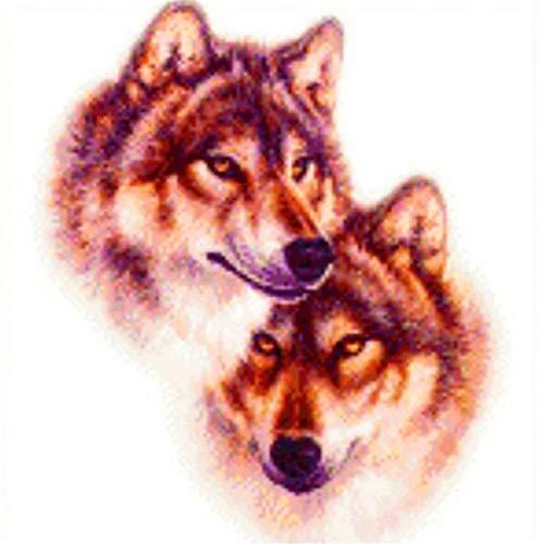 Navidad 5D DIY diamante pintura completos Kits Familia Lobo Animal completo para adultos y niños Arte de diamante redondo perfecto para la relajación decoración de la pared del hogar 20x20cm A1176