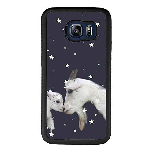Case Fit for Samsung Galaxy S6 Edge Plus (2015) 5.7-Inch Starry Sky Goat
