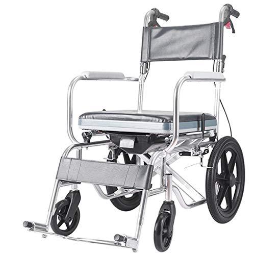 G-LXYZBQSHYP Toiletstoel met ruote/op water douchestoel en comfortabele douchestoel bekleed met wielen en hygiënische diensten, geschikt voor Anziani en Disables
