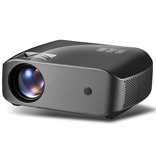 QXue Video Proyector Full HD 1920x1080P Proyector de Cine en Casa Proyector de Cine en Casa Pequeño para Entretenimiento Interior al Soporte HDMI Entrada/USB/TV Box Aire Libre
