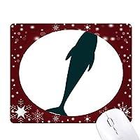 流線型のドルフィンブルーオーシャン素直 オフィス用雪ゴムマウスパッド