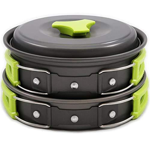 yahede Upgrade Premium 10 Piezas Kit de Olla de Picnic Almacenamiento Plegable Utensilios de Cocina para Acampar Accesorios para ollas de Campamento Juego de ollas de Camping Ligeras y Gifts