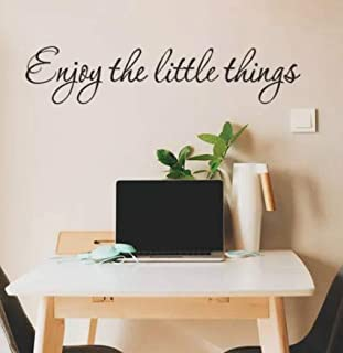 Blondees Wall Decal Enjoy The Little Things Wall Sticker Inspirational Quote Home Decor