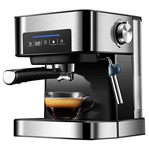 JGHPP Cafetera Cafetera Espresso K-Cup Pod con preparación rápida Potente espumador de Leche, Tanque de Agua extraíble para Espresso/Cappuccino/Latte/Mocha