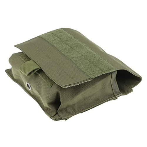 Tubayia Taktische Werkzeugtasche Molle Tasche Kartentasche für Outdoor, Sport, Wandern (Grün)