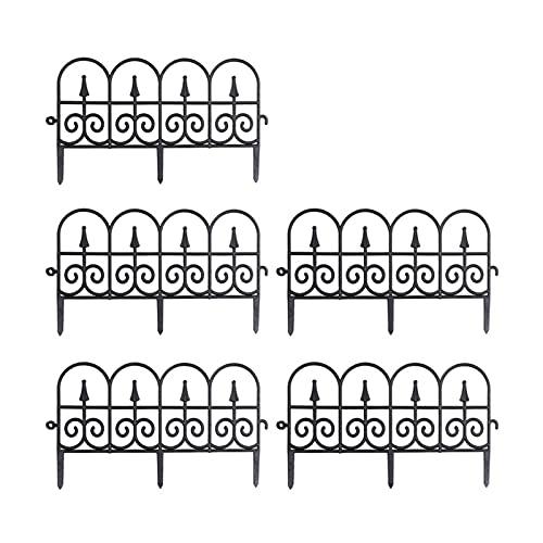 zlw-shop Recinzioni 5 PCS Garden Border Decorativo Recinzione Decorativa Bordo Pianta all'aperto Bordering Prato Bedging Fence for Arredamento da Giardino recinzioni per Giardino (Color : White)