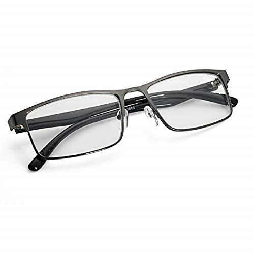 EgBert Mode Schwarz Kurzsichtig Gläser Metall Full Frame Myopie Gläser - -3.5