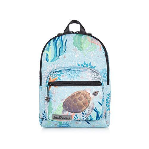 Shagwear Kinder Rucksack mit Tiermotiv, Klassische Form, für Schüler/Studenten/Kinder, Tasche für Schule/Picknick/Reisen (Schildkröte/Turtle)
