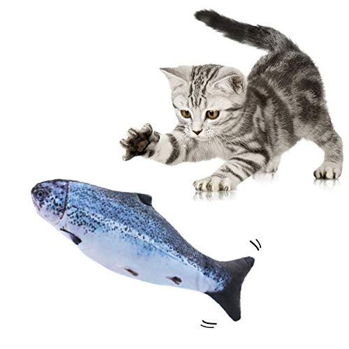 Juguete eléctrico para gato con forma de pez, realista