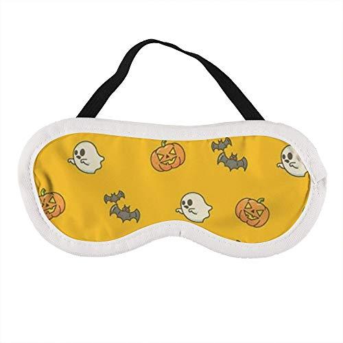 Máscara de ojos portátil para hombres y mujeres, calabazas de Halloween y diables: la mejor máscara de sueño para viajes, siesta, te dará el mejor ambiente de sueño