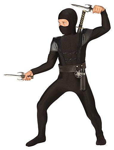 Bristol Novelty Combinaison CC170 Costume de Ninja-Noir-Taille Medium, 5 à 7 Ans, Moyen