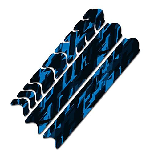AlphaShield Fahrrad Rahmenschutz Kettenstreben Schutz Folie Aufkleber Rahmen Schutz Carbon MTB BMX Lackschutz Folie R161 (16 Future Neon Blau)