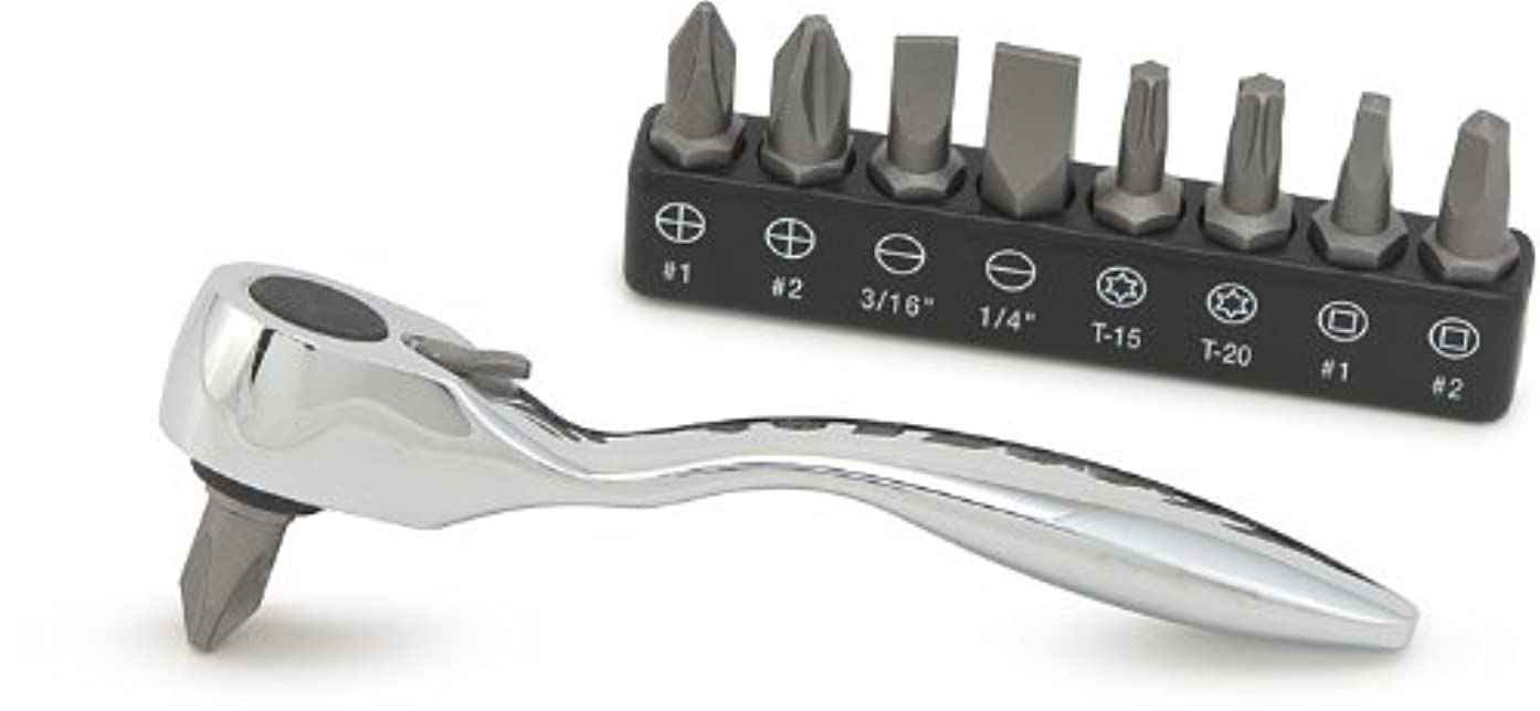 Titan Tools 11205 Offset Micro Bit Driver with Bits