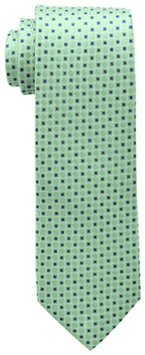 Tommy Hilfiger Men s Core Neat I Tie, Green, One Size
