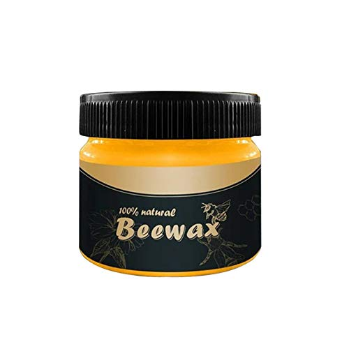 SBYMX 4PCS Wood Seasoning Beewax - Traditional Beeswax Polisher for Wood and Furniture, All-Purpose Beeswax for Wood Cleaners and Polishing Cloths - Non-Toxic for Furniture to Enhance and Protect