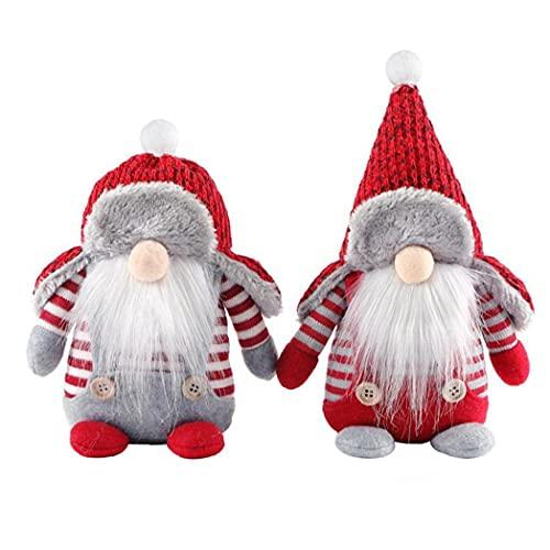 Peluche Gnomo Adornos de muñeca sin Rostro con Sombrero Rojo Sueco Navidad Santa...