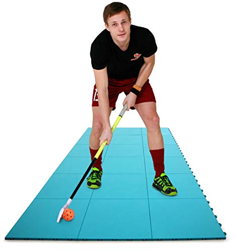 Hockey Revolution High Durability Floorball Dryland Flooring Tiles - Slick Interlocking Training Surface for Stickhandling, Shooting, Passing - Suitable for Indoor & Outdoor Use (8 Tiles)