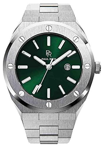 Paul Rich Signature Emperor's Emerald Staal PR68SGS horloge 45 mm
