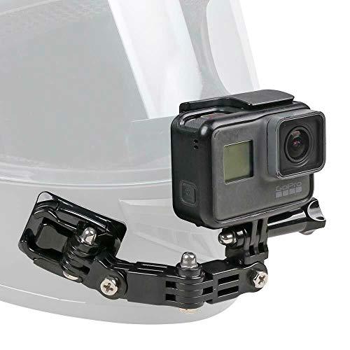O RLY - Kit di supporto per casco da moto girevole a 3 vie, per GoPro Hero 7, 6, 5, 4, 3, Hero Black, Session, Xiaomi Yi, SJCAM