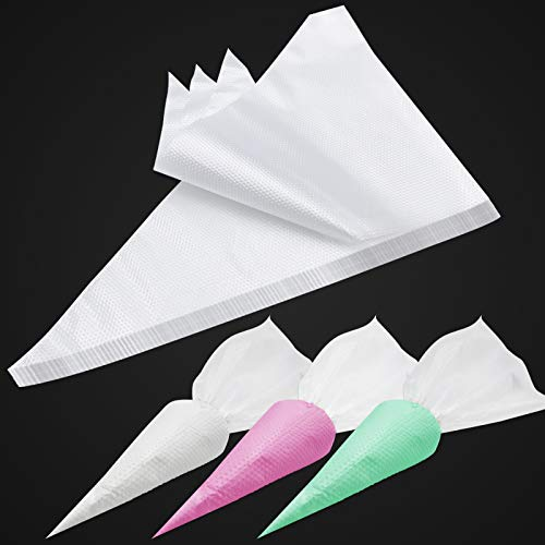 100PCS & 16 Inches Tipless Piping Bags Disposable, Extra Thick Pastry Bags Disposable, Non-Slip Icing Piping Bags Disposable Design, Cake Decorating Bags Easy to Squeeze the Icing Cream.