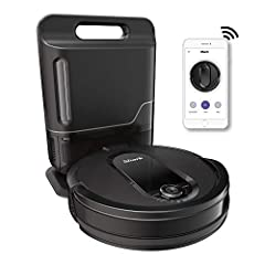 Forget about vacuuming for upto a month with the bagless, self-emptying base. Holds upto 30 days of dirt and debris. Unbeatable suction vs. any Shark robot vacuum for pickup of large and small debris, as well as pet hair on carpets and hard-floors. S...
