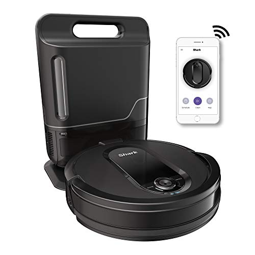 Shark IQ R101AE with Self-Empty Base, Wi-Fi, Home Mapping Robot Vacuum (RV1001AE), With Auto Dock, Black