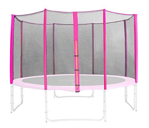 SixBros. Sicherheitsnetz Pink für Gartentrampolin 1,85 M - 4,60 M versch. Größen - SN-ON/1951 - Größe 3,70 m 4L