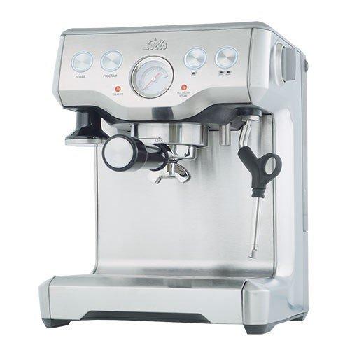 Solis caffespresso Pro freistehend halbautomatisch Maschine Espresso 2Tassen Edelstahl Espressomaschine (freistehend, Maschine, gemahlener Kaffee, 1700W, Edelstahl)