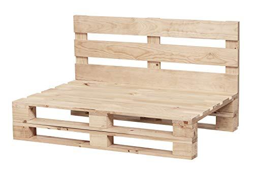 Sofa DE PALETS Lijado Y Cepillado - Interior/Exterior Nuevo Sillon PALETS/Sofa para Patio (80cm X 60cm, Acabado Crudo)