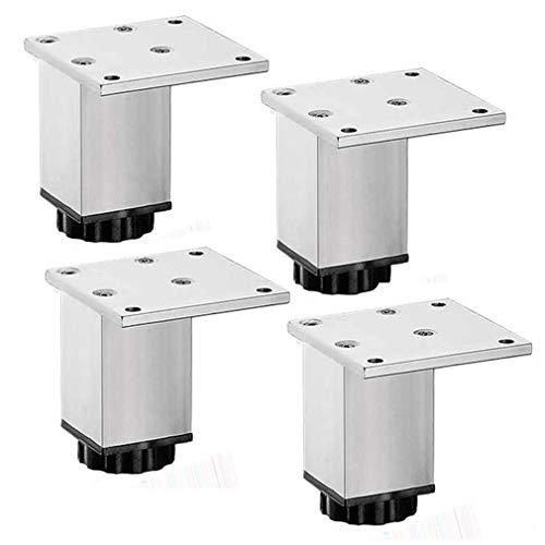 Yuany 4 stuks verstelbare meubelpoten, kast metalen poten, aluminiumlegering tv-kast voetsofa steunpoten meubelen hefmatten badkamerkastpoten, in hoogte verstelbaar (25 cm)