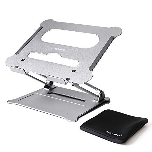 NEVOYO Soporte para portátil (altura regulable con orificios de aire), compatible con MacBook, HP, Dell & Co (hasta 17,3')