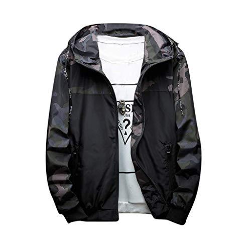 Kapuzenpulli Sweatshirt Hooded Outdoor Fashion Camouflage Pulli Daunenjacke Sweater Sweatjacke Business Windproof Sports Männer Clearance Outwear Sale Hoodie Herren Pullover Parka Jacke
