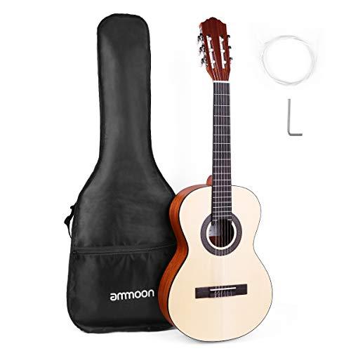 ammoon Gitarre 36 Zoll klassische Gitarre Reise akustische Junior Größe 6-String Fichte Topboard mit Gig Bag Strings