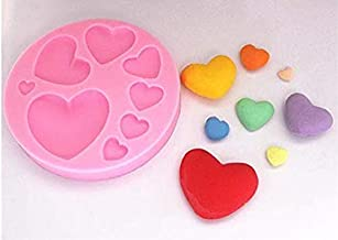 Mold Tray 8-Cavity Different Sizes Love Heart Shape Suitable for Fondant, Gum Paste, and Chocolate Mold