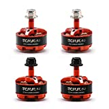 TCMMRC 4pcs 2206 2300KV Brushless Motor 5 Inch 3-4s QAV FPV Racing Drone Quadcopter with NSK High Speed Bearings, 52H Ultra-High Magnetic Steel, Super Heat Dissipation Support 4S