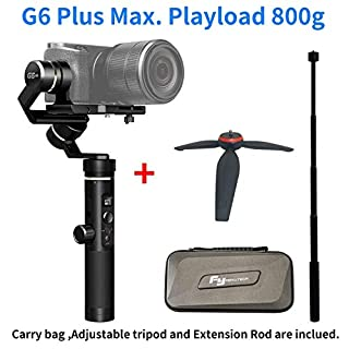 feiyu G6Plus 3-axis Brushless Handheld stabilisateur splash-proof 800G Payload 12Hours Running Time For smartphone, Action Camera GoPro, Digital Cameras (B07FBSJLBS)   Amazon price tracker / tracking, Amazon price history charts, Amazon price watches, Amazon price drop alerts