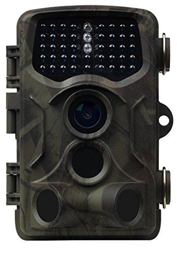 MEDION S47044 MD 87825 Wildkamera, 5.0 MP, Heimüberwachung oder Tierbeobachtung, Spritzwassergeschützt, Belichtungsautomatik, Mikrofon, Lautsprecher, grün