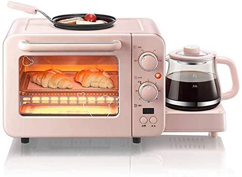 Elektrische 8 liter mini oven met eieren pan voor de koffie oven, oven, mini oven met circulerende lucht, 3-in-1 multifunctioneel apparaat ontbijt