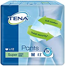 TENA PANTS SUPER MED 12'S