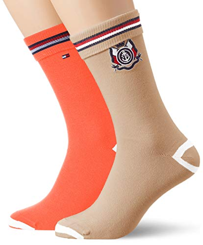 Tommy Hilfiger Th Men Sock 2p Crest Chaussettes, Multicolore...