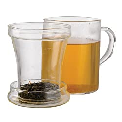 professional Primula glass tumbler with injection for loose tea, 12 oz