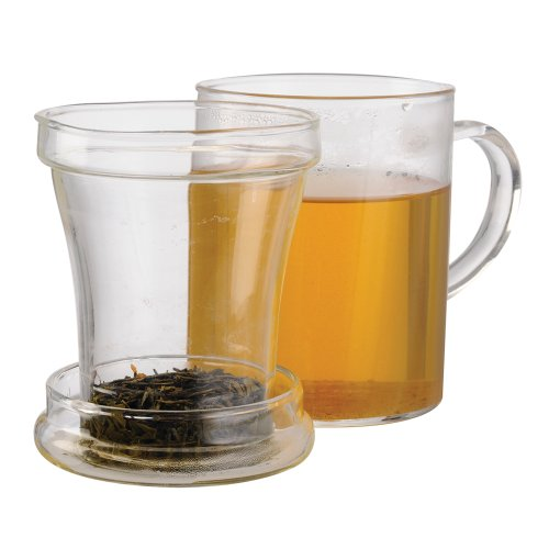 Save %32 Now! Primula Glass Mug with Loose Tea Infuser, 12-Ounce