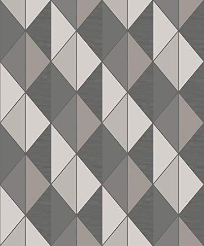 Geometrische behang glitter retro driehoek diamant getextureerde plakken de muur Orion