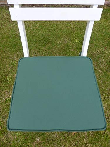 UK-Gardens Muebles de Jardín, Cojín de Asiento Verde para Sillas de Jardín Plegables